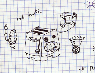 sketch speakerdog toaster james marr